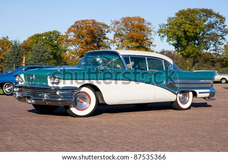 ROSMALEN, THE NETHERLANDS - OCTOBER 15: A 1958 Buick Super is shown at the Rock Around the Jukebox event on October 15, 2011 in Autotron Rosmalen, Holland