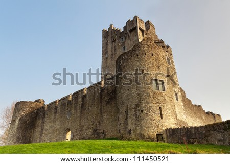 Ross castle in Killarney - Ireland - stock photo