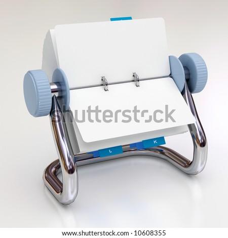 Rotary card - stock photo