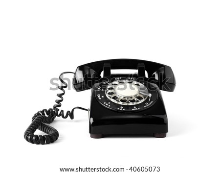 Rotary telephone - stock photo