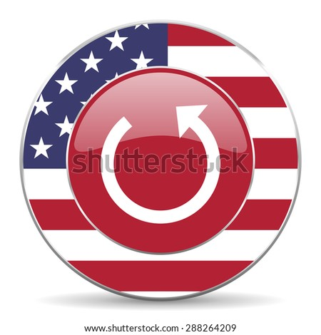 rotate american icon original modern design for web and mobile app on white background  - stock photo