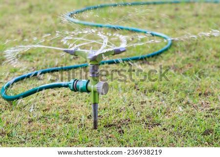 Rotate of water sprinkler - stock photo