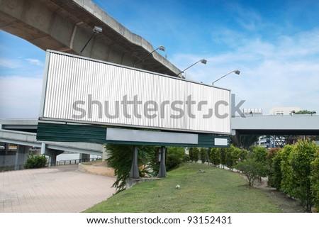 Rotating Billboard at traffic viaduct in Kuala Lumpur, Malaysia - stock photo