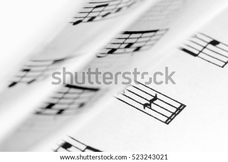 Rotating pages with sheet music score