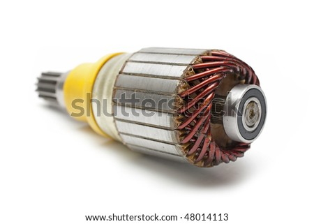 rotor for build-in reduction gear motor starter - stock photo