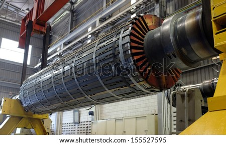Rotor machine at a workshop - stock photo