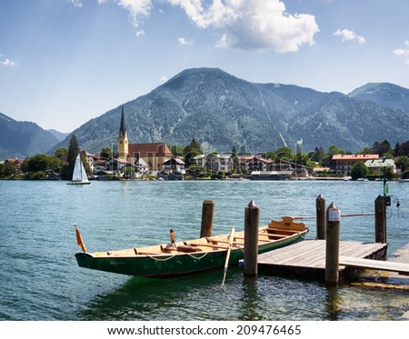 rottach-egern at the tegernsee - bavaria - germany