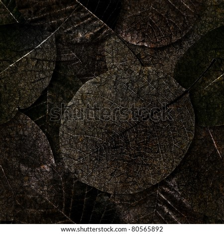Rotten dead leaves seamless background - texture pattern for continuous replicate. - stock photo