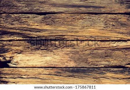 Rotten wooden boards - stock photo