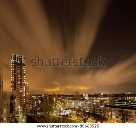 Rotterdam at night - stock photo