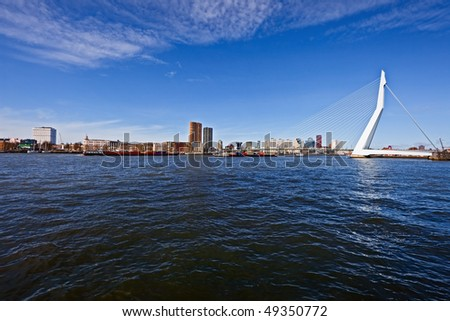 Rotterdam port - stock photo