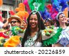 ROTTERDAM - SUMMER CARNIVAL, JULY 26, 2008. Carnival Queen in the parade at the Caribbean Carnaval in Rotterdam. - stock photo