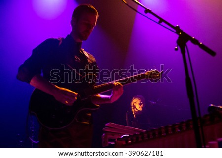 Rotterdam, the Netherlands - March 10, 2016: Dutch singer Eefje de Visser performs live on stage at Lantaren Venster Theatre.