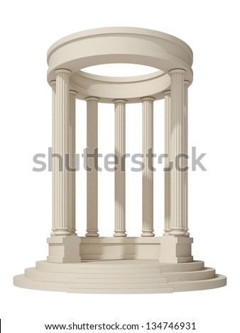 rotunda on a white background - stock photo