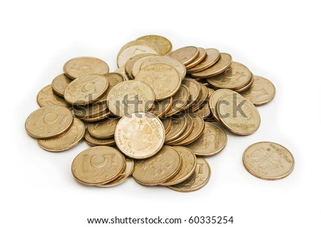 Roubles isolated on white - stock photo