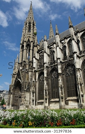 Rouen cathedral II - stock photo