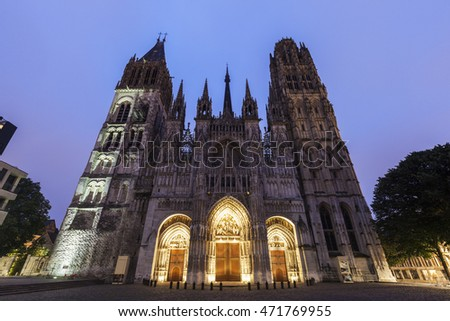 Rouen Cathedral Notre-Dame Rouen, Normandy, France