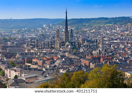 Rouen Panorama; Normandy, France