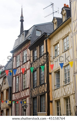 Halftimbered houses rouen normandy france stock photo for Haute normandie rouen