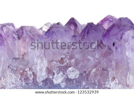 Rough amethyst - stock photo