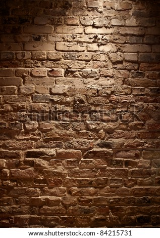 rough Brick Wall full frame - stock photo