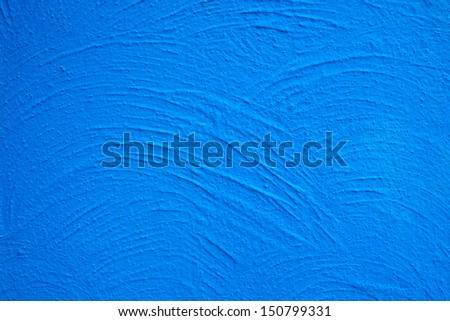 rough concrete wall texture with blue color  - stock photo