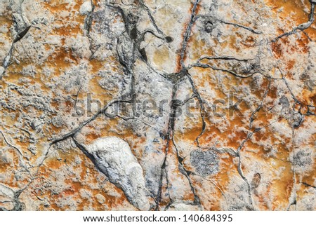 Rough Cut Large Polychrome Marble Cobblestone Texture - stock photo