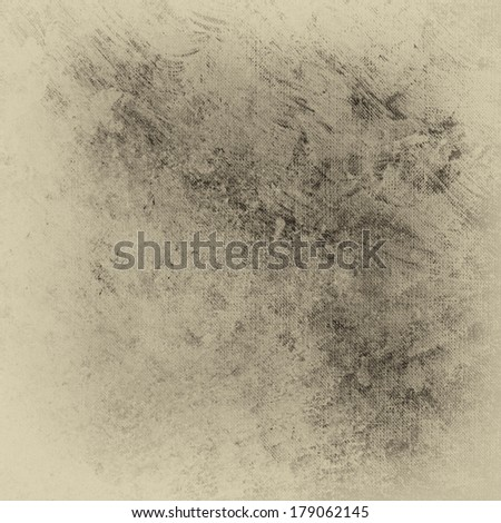 rough distressed light brown or beige background with vintage grunge background texture stains spattered in center with faded white border, messy grungy paint brush strokes on light colored backdrop - stock photo