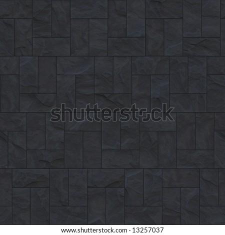 Rough Grey Slate Tiled Floor