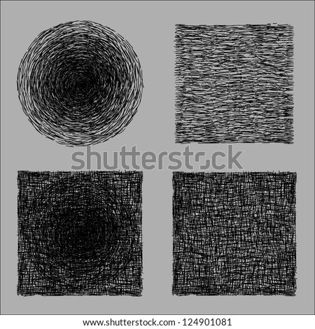 rough hatching drawing texture - stock photo