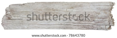 Rough hewn wood sign - stock photo