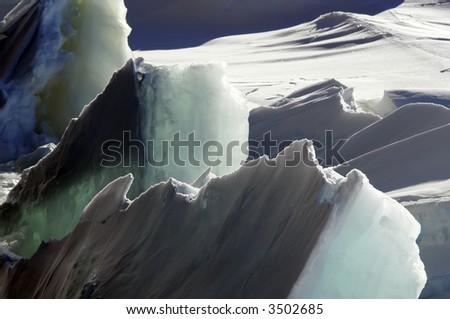Rough ice - stock photo