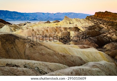 Rough Landscape of Death Valley - stock photo