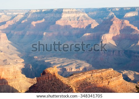 Rough landscape of the Grand Canyon, southeast USA,