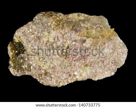 Rough lepidolite mica, lithium ore - stock photo