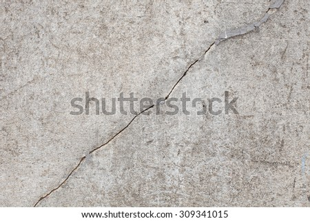 rough old cement plaster crack wall  background - stock photo