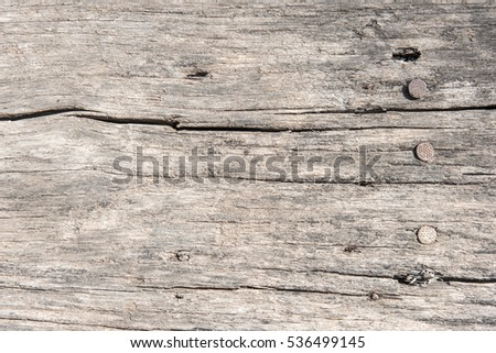 Rough old rustic wooden background with cracks