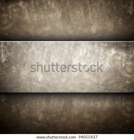 rough plate - stock photo