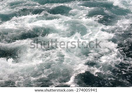 rough sea bubble surface - stock photo