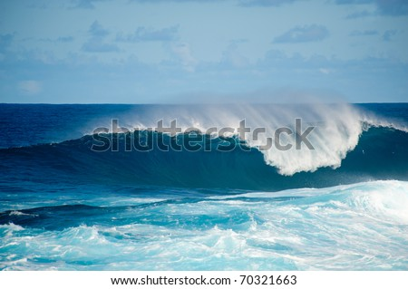 rough seas at La Fajana, Barlevento, La Palma, Canary islands, Spain - stock photo