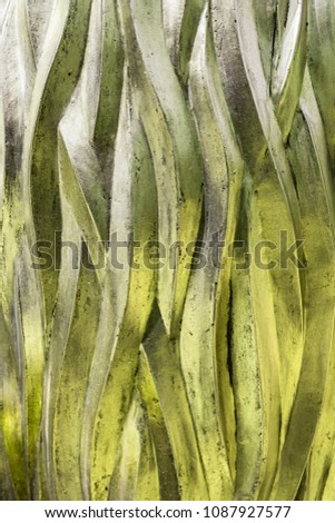 Rough Style Three Dimensional Intertwined Textured Abstract Background and Wallpaper Yellow  Color