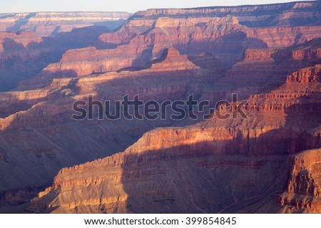 Rough texture of the Grand Canyon landscape of Arizona, USA - stock photo