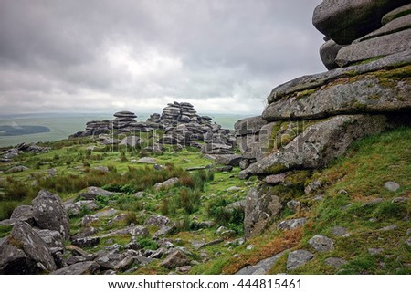 Rough Tor, Bodmin Moor, Cornwall, England. One of the highest peaks on Bodmin Moor.