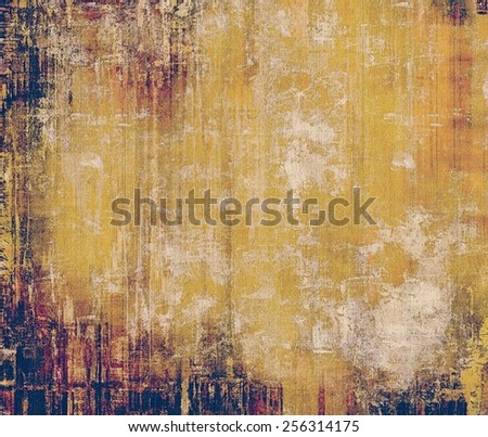 Rough vintage texture. With different color patterns: yellow (beige); brown; gray; purple (violet) - stock photo