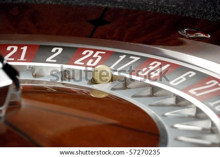 Roulette and Ball - stock photo