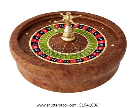 roulette, casino on white background - stock photo