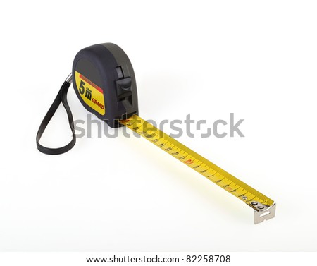 Roulette essential tool for the measurement. - stock photo