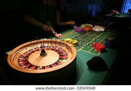 Roulette in casino - stock photo