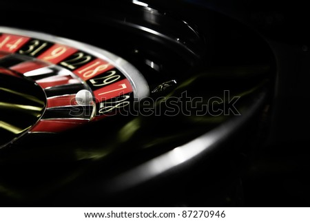 Roulette in casino - stock photo