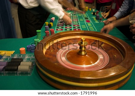 roulette in motion - stock photo
